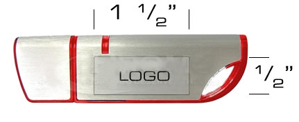 the logo size of Crescent usb flash drive