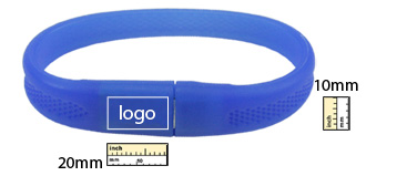 the logo size of braclet usb flash drive