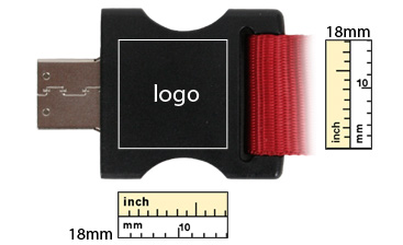 the logo size of lanyard usb flash drive