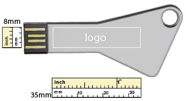 the logo size of key usb flash drive