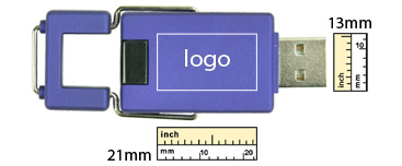the logo size of Billboard USB Flash Drive