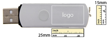 logo size of Deluxe USB Flash Drive
