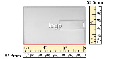 the logo size of icard usb flash drive