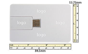 the logo size of Flip Card USB Flash Drive