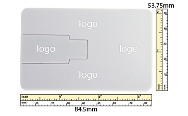 the logo size Flip Card USB Flash Drive