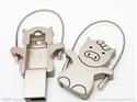 Picture of Custom Metallic USB Flash Drive - Iron Piglet